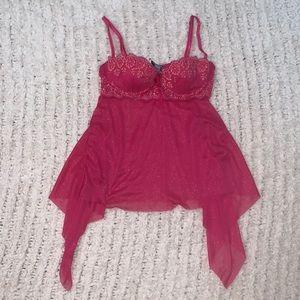 Victoria's Secret Pink Sparkle Baby Doll Top 34B